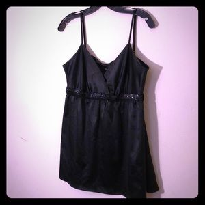 Silky and sparkly black Express tank top